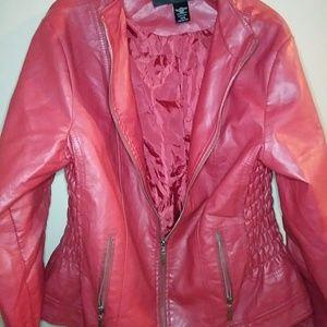 bebb8eb91d7ef Women s Plus Size Red Leather Jacket on Poshmark